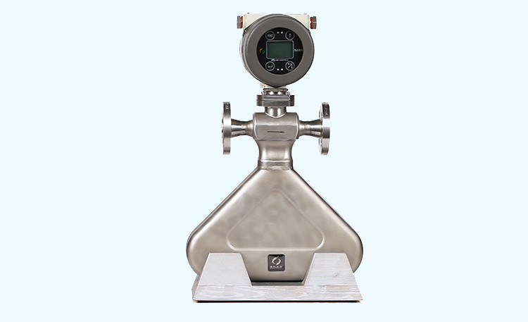 Triangle shape coriolis mass flow meter viedo