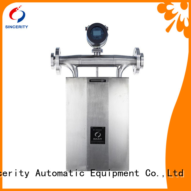 Sincerity high accuracy coriolis fuel flow meter manufacturer for chemicals