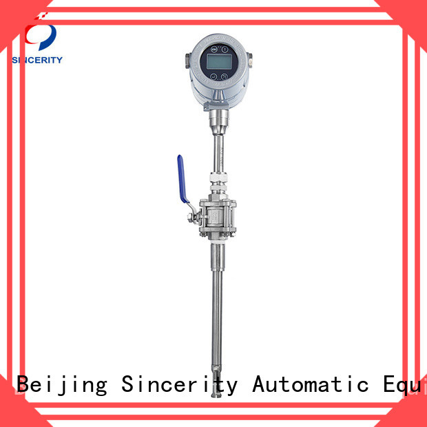 Sincerity high performance thermal gas flow meter function for the volume flow