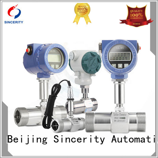 Sincerity high reliability turbine flow meter application price for concentration measurement